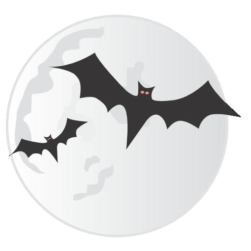 иконки луна, летучие мыши, летучая мышь, хэллоуин, bats, moon, halloween,