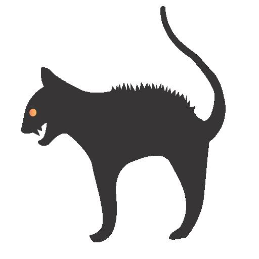 иконка кот, кошка, хэллоуин, cat, halloween,