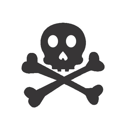 иконки опасность, skull crossbones,
