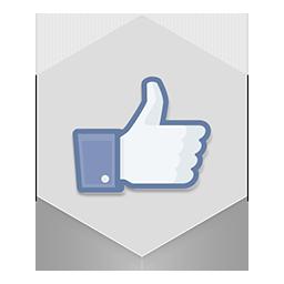 иконка facebook like, лайк,