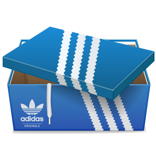 иконки коробка, adidas,
