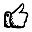 иконки палец вверх, лайк, like, thumb up,