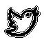иконка twitter, твиттер, птичка, птица,