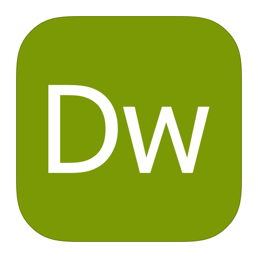 иконки  adobe dreamweaver,