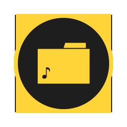 иконки папка, музыка, мои аудиозаписи, music, folder,