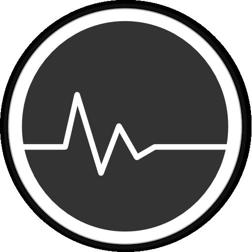 иконки пульс, статистика, активность,