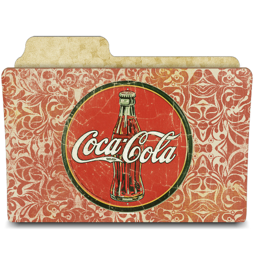 иконки папка, кола, кока кола, coca cola,