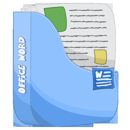 иконка word, мои документы, папка,