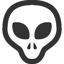 иконка инопланетянин, grey,