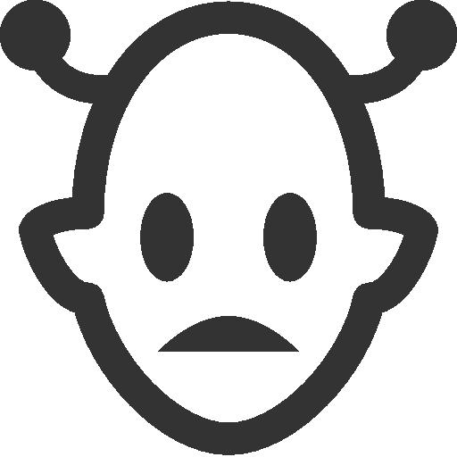 иконка инопланетянин, martian,