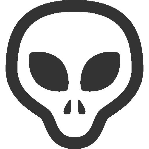 иконки инопланетянин, grey,