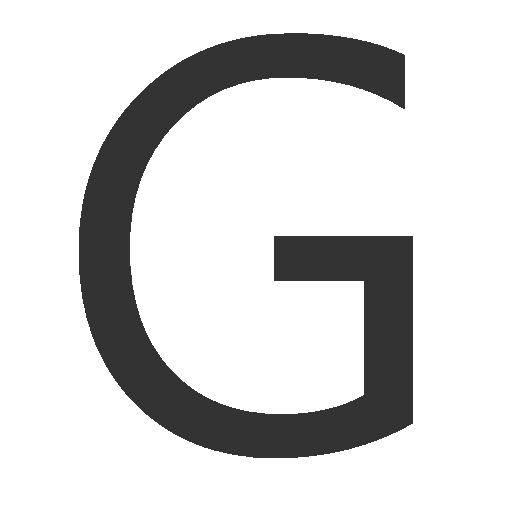 иконка буква g,