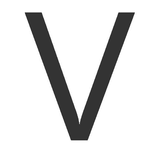 иконка буква v,
