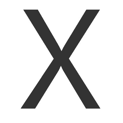 иконки буква x,