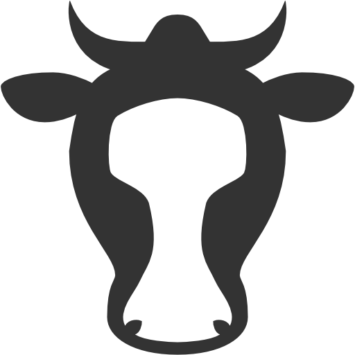 иконка корова, cow,