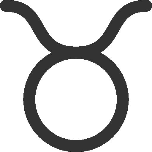 иконка телец, taurus,