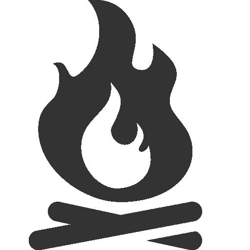 иконки костер, огонь, campfire,