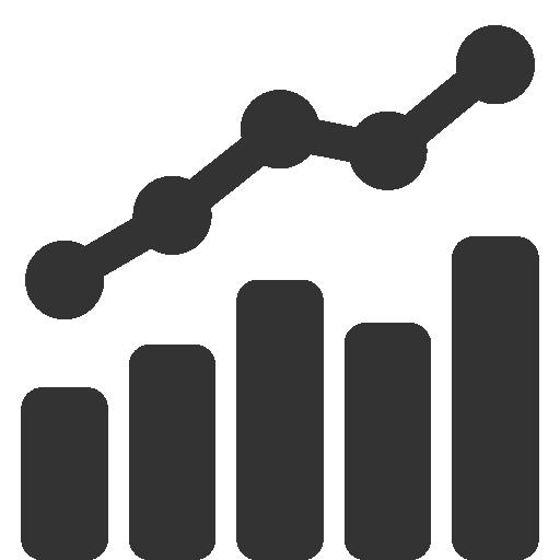 иконки график, статистика, комбинированная диаграмма, combo,