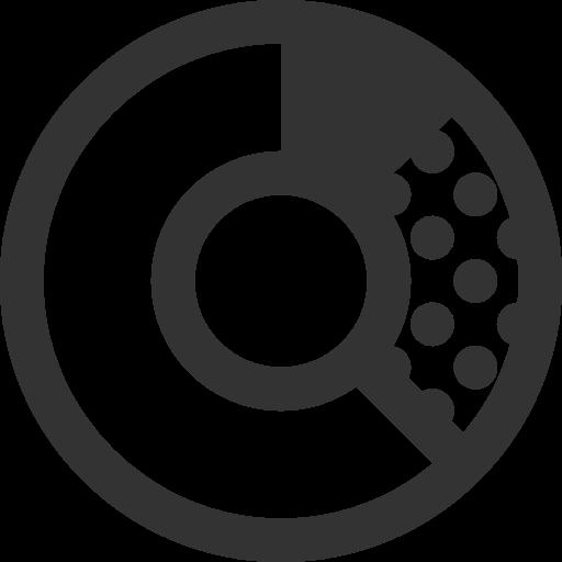 иконки кольцевая диаграмма, donat chart,
