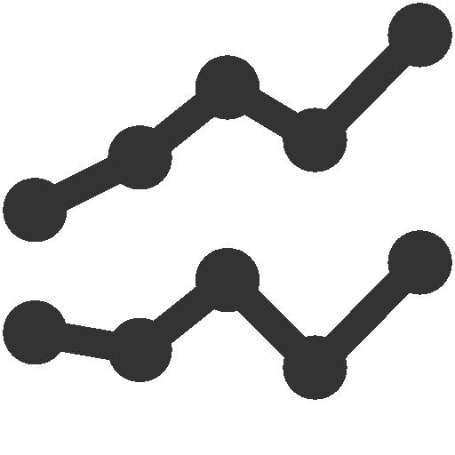 иконки линейный график, статистика, line,