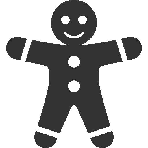 иконка пряник, пряня, gingerbread men,