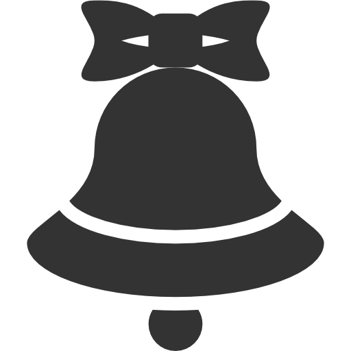 иконка колокольчик, рождество, новый год, jingle bell,