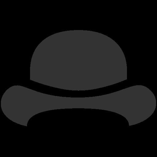 иконки шляпа, котелок, bowler hat,