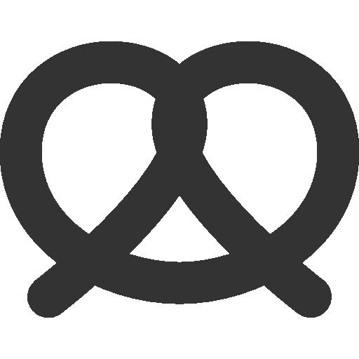 иконка крендель, pretzel,