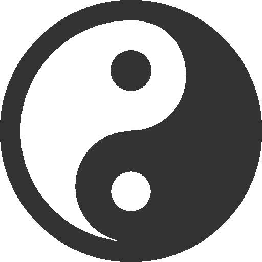 иконки инь янь, yin yang,