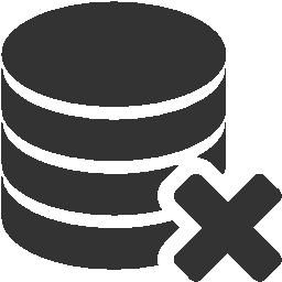 иконки база данных, удалить базу данных, delete database,