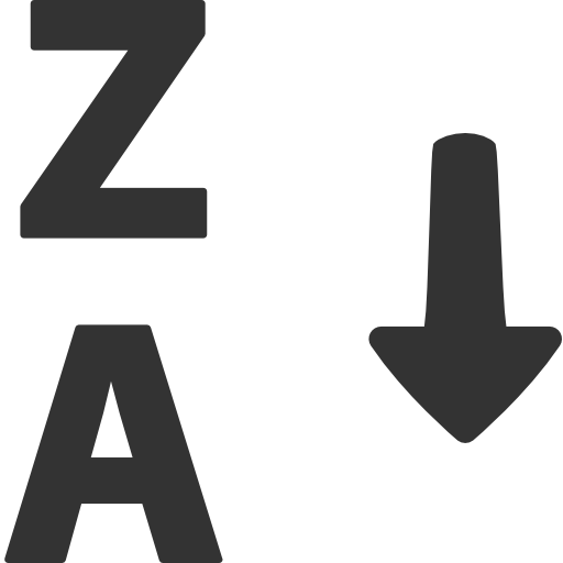 иконки сортировка, по алфавиту, alphabetical sorting,