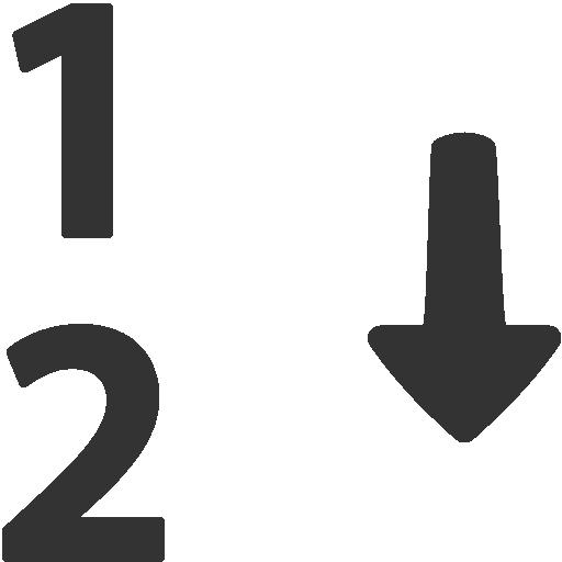 иконки сортировка, по возрастанию, numerical sorting,