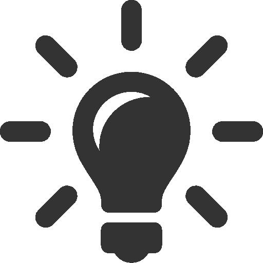 иконки идея, лампочка, idea,