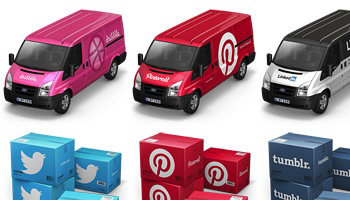 Container 4 Cargo Vans Icons by Antrepo
