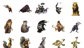 Ice Age 4 Icons
