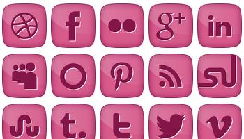 Pink Girly Social