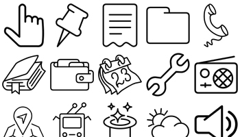 Swanky Outlines Icons by PixelKit