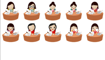 Office Women Icons by DaPino