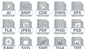Graphic File Type Icons by DesignBolts
