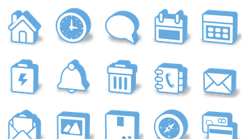 Super Mono 3D Icons by Double-J Design