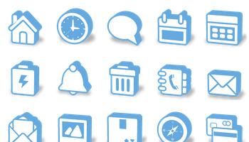 Super Mono 3D Icons by Double-J Design