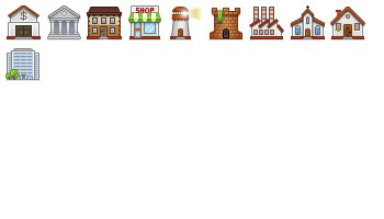 Buildings Icons by Anna Shlyapnikova