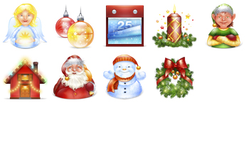 Xmas New Year 2011 Icons by Blackblurrr