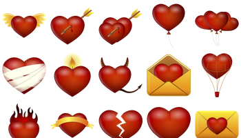 Valentine Icons by Custom Icon Design