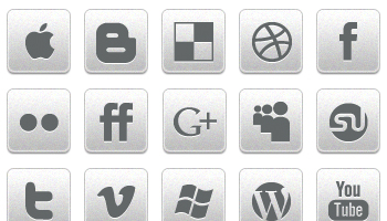 Black and White Social Icons by Creative Nerds