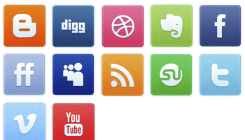 Clean Noise Social Icons by Creative Nerds