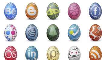 Social Easter Egg Icons by DesignContest
