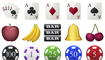 Casino Icons by DesignContest