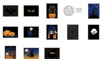 Halloween Stamps Icons by DaPino