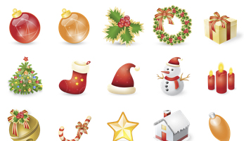 Xmas Festival Icons by Double-J Design